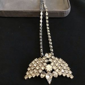 Jewelry - Dazzling Diamond Look Necklace  w Enhancer Brooch